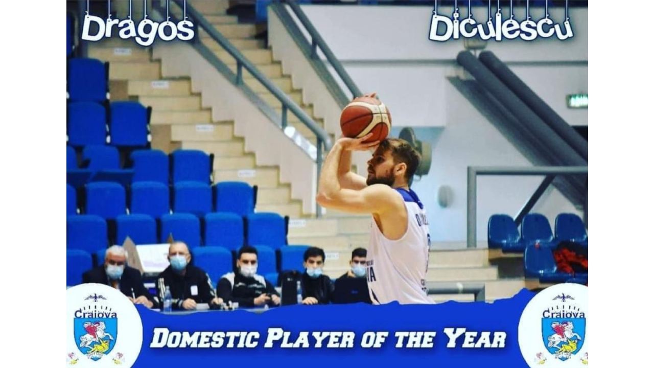 Dragoș Andrei DICULESCU cel mai bun jucător român din Liga Națională de Baschet Masculin