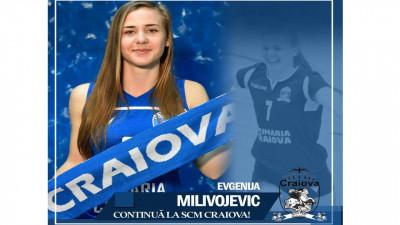 Evgenija Milivojevic continuă alături de S.C.M. Craiova
